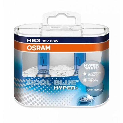 Лампа накаливания Osram HB3 69005CBH+ Cool Blue Hyper +50% Hard Duopet