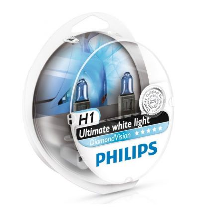 Галогеновая лампа Philips DIAMOND VISION (H1, 12258DVS2) Компл (2шт)