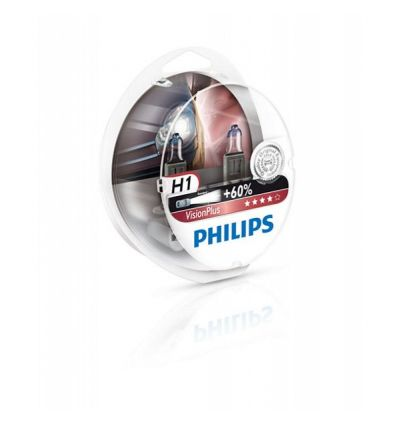 Галогеновая лампа Philips VISION PLUS (H1, 12258VPS2) Компл (2шт)