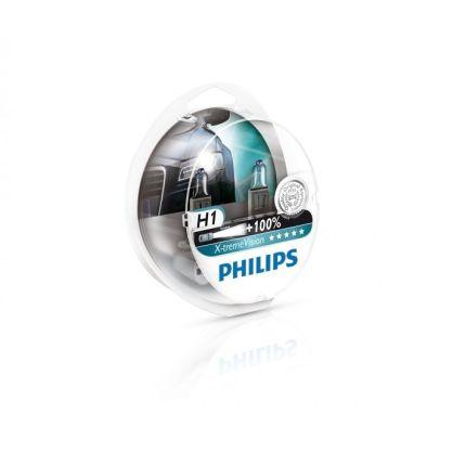 Галогеновая лампа Philips X-treme Vision H1 (12258XVS2) Компл (2шт)