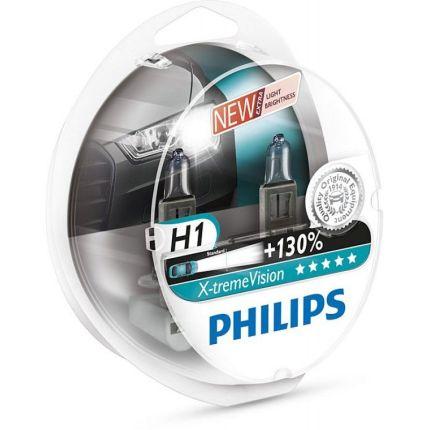 Галогеновая лампа Philips X-TREME VISION (H1, 12258XV+S2) Компл (2шт)