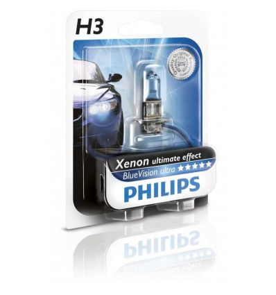 Галогеновая лампа Philips BLUE VISION ULTRA (H3, 12336BVUB1) 1 шт