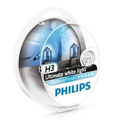 Галогеновая лампа Philips DIAMOND VISION (H3, 12336DVS2) Компл (2шт)