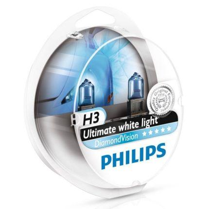 Галогеновая лампа Philips DIAMOND VISION (H3, 12336DVS2) Компл (2шт)