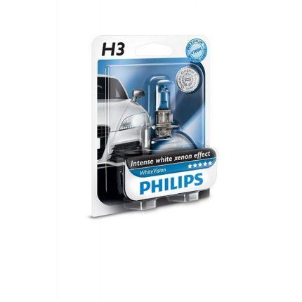 Галогеновая лампа Philips WHITE VISION (H3, 12336WHVB1) 1 шт