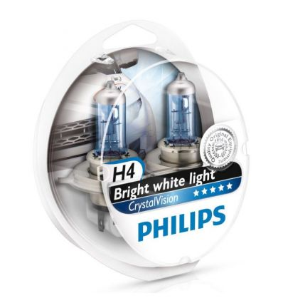 Галогеновая лампа Philips CRYSTAL VISION (H4, 12342CVSM) Компл (2шт)
