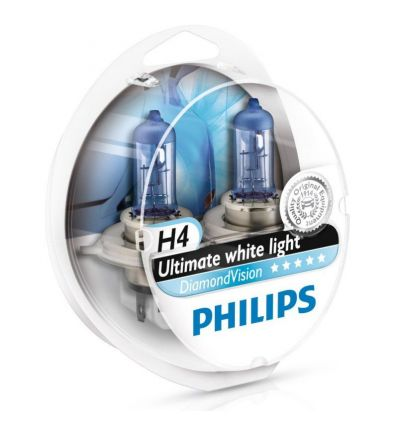 Галогеновая лампа Philips DIAMOND VISION (H4, 12342DVS2) Компл (2шт)
