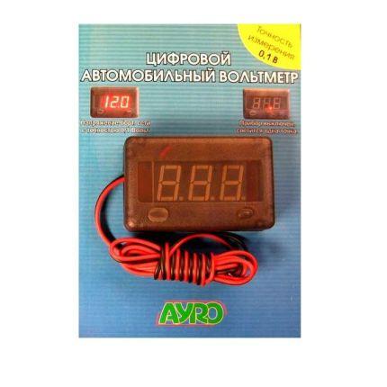 Цифровой автомобильный прибор (вольтметр) 12В