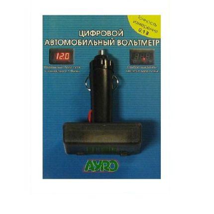 Цифровой автомобильный прибор (вольтметр в прикуриватель) 12В