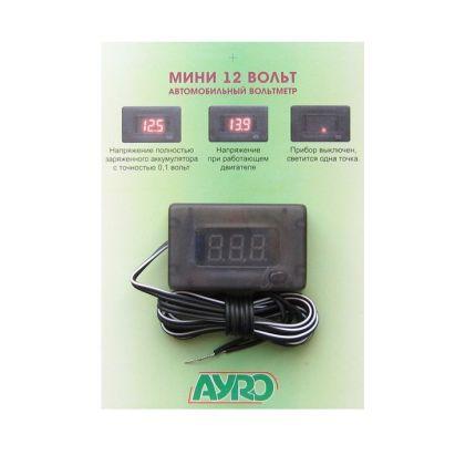 Цифровой автомобильный прибор Мини (вольтметр) 12В