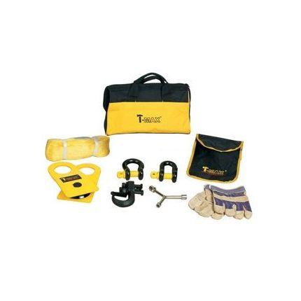 Такелажный набор T-Max 9 ед. (блок, шаклы, стропа, крюк, перчатки, ключ)