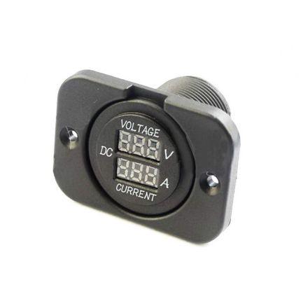 Цифровой автомобильный прибор RS CC210 (вольтметр-амперметр) 12В