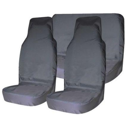 Грязезащитные чехлы на передние и задние сиденья автомобиля T-Plus СЕРЫЕ