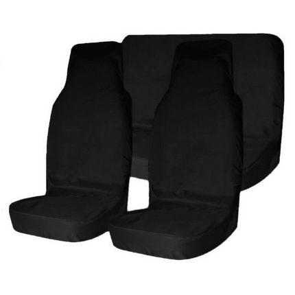 Грязезащитные чехлы на передние и задние сиденья автомобиля T-Plus ЧЁРНЫЕ