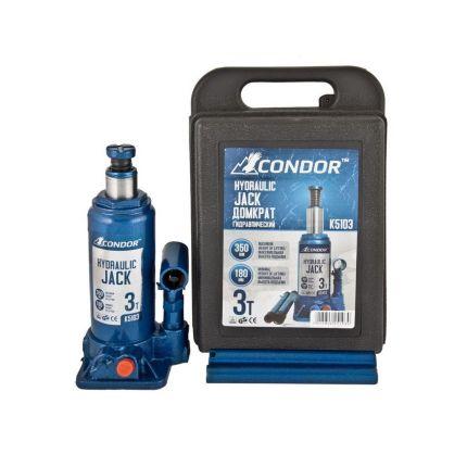 Домкрат гидравлический бутылочный CONDOR K5103 3 тонны (кейс)