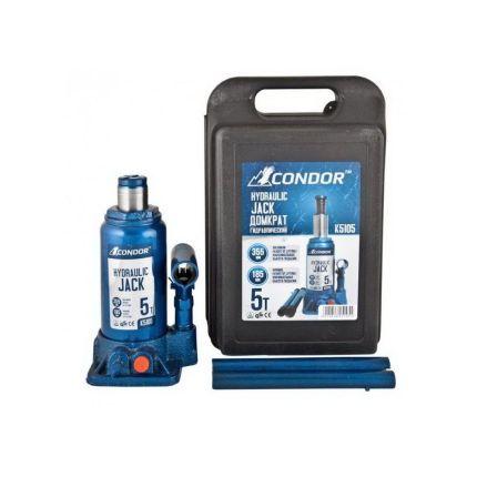 Домкрат гидравлический бутылочный CONDOR K5105 5 тонн (кейс)