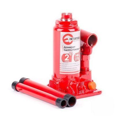 Домкрат гидравлический бутылочный Intertool GT0021 2 тонны