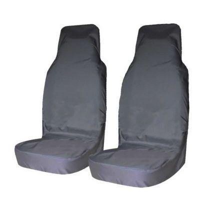 Грязезащитные чехлы на передние сиденья автомобиля Tplus СЕРЫЕ