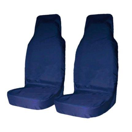 Грязезащитные чехлы на передние сиденья автомобиля Tplus СИНИЕ
