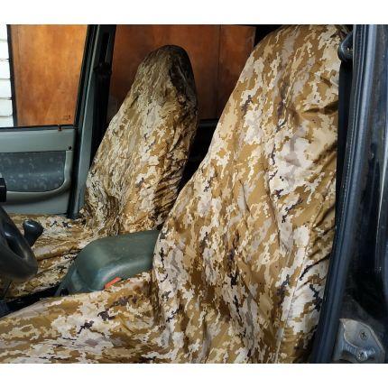 Грязезащитные чехлы на передние сиденья автомобиля ПИКСЕЛЬ ПУСТЫНЯ
