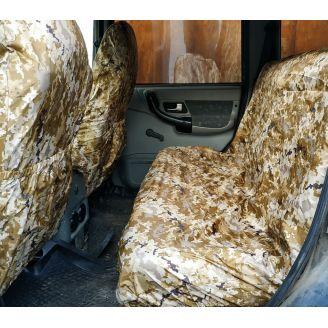 Грязезащитные чехлы на передние и задние сиденья автомобиля ПИКСЕЛЬ ПУСТЫНЯ