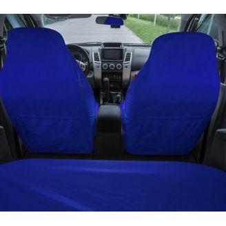 Грязезащитные чехлы на передние и задние сиденья автомобиля ORPRO СИНИЕ