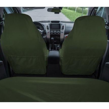 Грязезащитные чехлы на передние и задние сиденья автомобиля ORPRO ЗЕЛЁНЫЕ