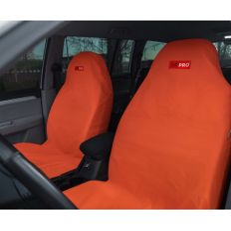 Грязезащитные чехлы на передние и задние сиденья автомобиля ORPRO ОРАНЖЕВЫЕ