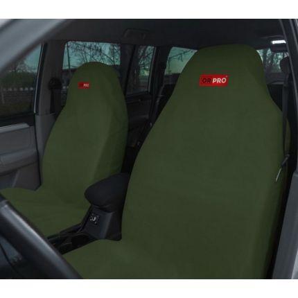 Грязезащитные чехлы на передние сиденья автомобиля ORPRO ЗЕЛЁНЫЕ