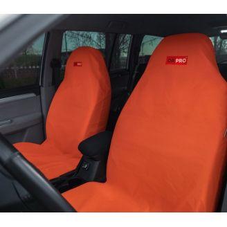 Грязезащитные чехлы на передние сиденья автомобиля ORPRO ОРАНЖЕВЫЕ