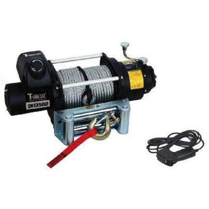 Электрическая лебёдка T-Max FEW-13500 12V/6118кг Fire Work series