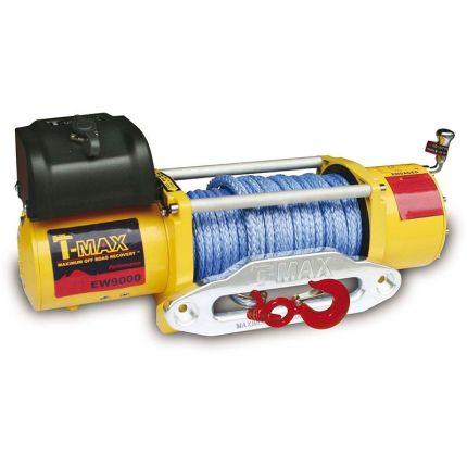 Электрическая лебёдка T-Max PEW-9000 12V/4100кг PERFORMANCE SERIES/синт.трос 9,1mm*30m