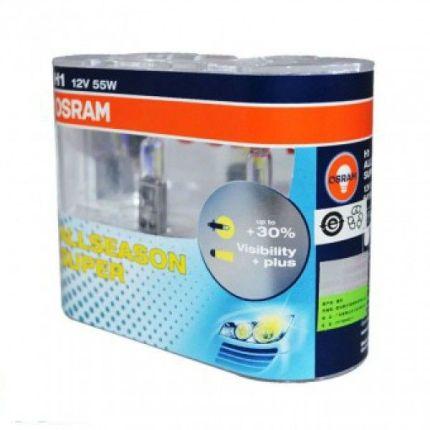 Галогеновая лампа Osram H1 ALLSEASON SUPER 12V 64150ALS-HCB DUO Компл (2шт)