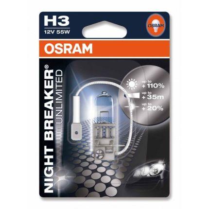 Галогеновая лампа Osram H3 64151 NBU-01B 12V 55W PK22s 1 шт