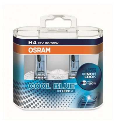 Галогеновая лампа Osram Cool Blue Intense H4 4200K Компл (2шт)