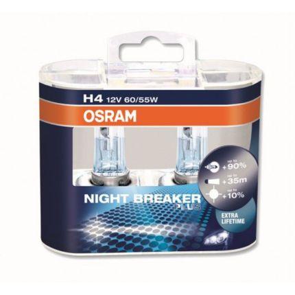 Галогеновая лампа Osram H4 64193 NBR 12V 60/55W P43t Компл (2шт)