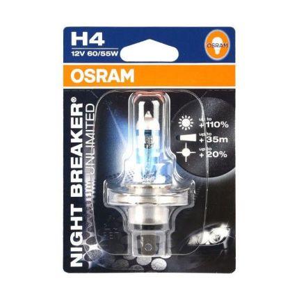 Галогеновая лампа Osram P43t H4 12V 60/55W NBU-01B+110% 1 шт