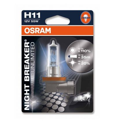 Галогеновая лампа Osram H11 OS 64211 NBU NIGHT BREAKER UNLIMITED 1 шт