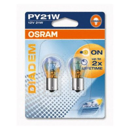 Лампа накаливания Osram 7507 LDA-02B PY21W (21) BAU15s DIADEM LONG LIFE Компл (2шт)